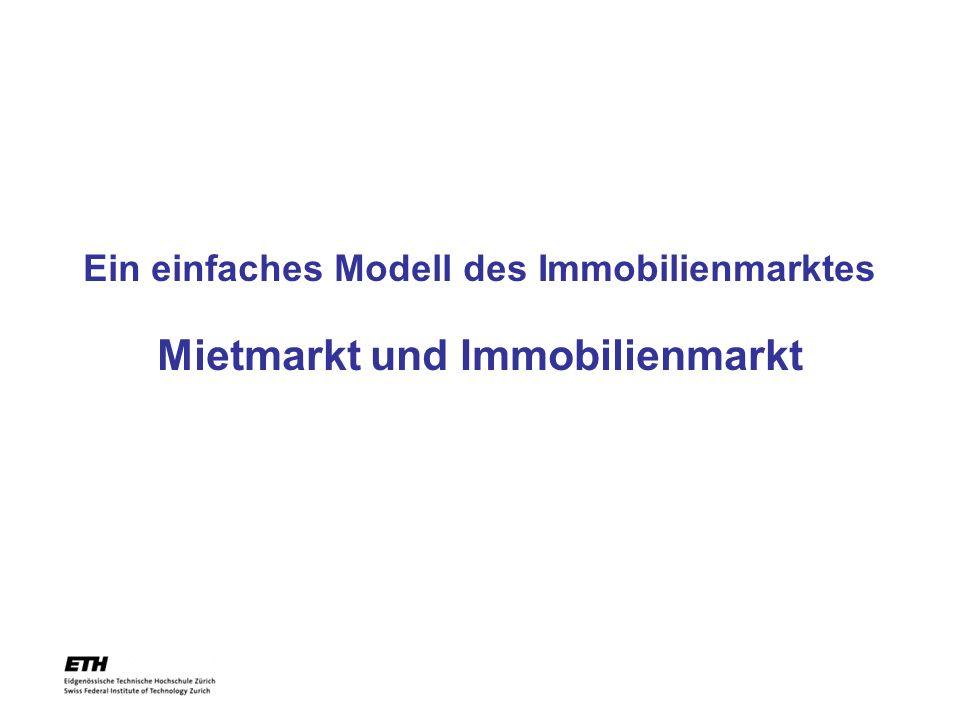 Ein einfaches Modell des Immobilienmarktes Mietmarkt und Immobilienmarkt