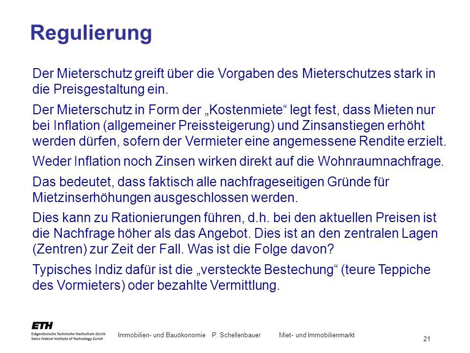 Immobilien- und BauökonomieP. Schellenbauer Miet- und Immobilienmarkt 21 Der Mieterschutz greift über die Vorgaben des Mieterschutzes stark in die Pre