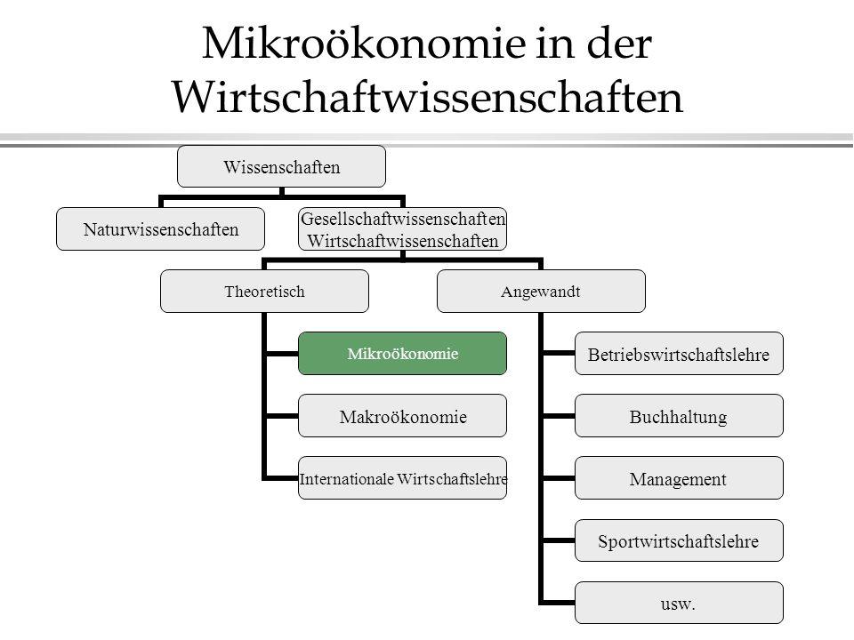 Mikroökonomie in der Wirtschaftwissenschaften Wissenschaften Naturwissenschaften Gesellschaftwissenschaften Wirtschaftwissenschaften Theoretisch Mikro