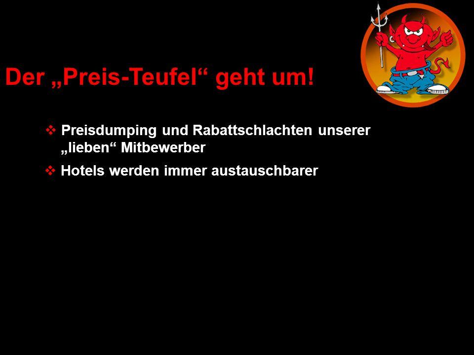 Der Preis-Teufel geht um! Preisdumping und Rabattschlachten unserer lieben Mitbewerber Hotels werden immer austauschbarer