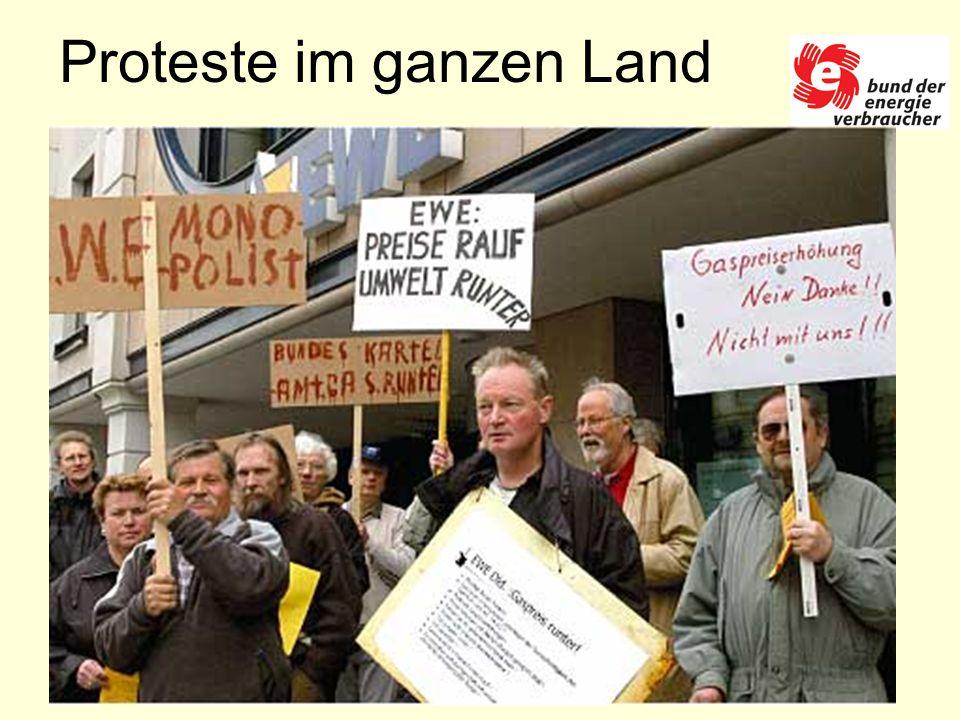 Proteste im ganzen Land