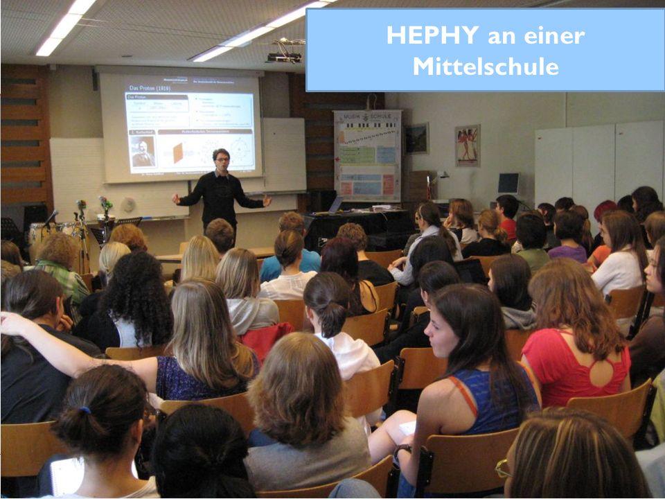 Preisverleihung 2012 HEPHY an einer Mittelschule