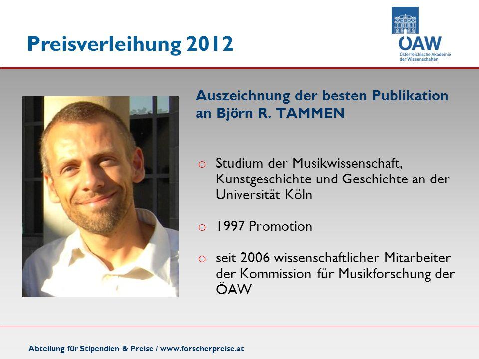 o Studium der Musikwissenschaft, Kunstgeschichte und Geschichte an der Universität Köln o 1997 Promotion o seit 2006 wissenschaftlicher Mitarbeiter de