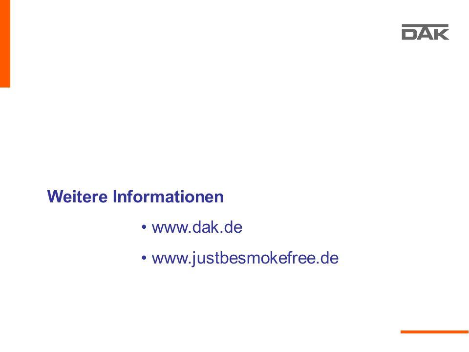Weitere Informationen www.dak.de www.justbesmokefree.de