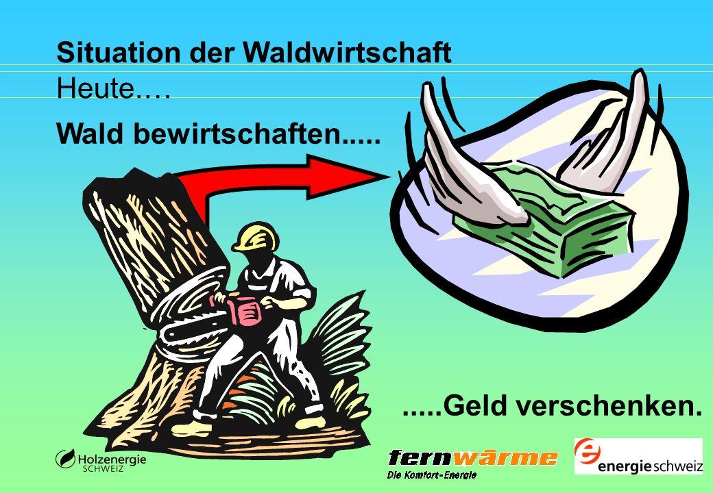 Situation der Waldwirtschaft Heute.… Wald bewirtschaften..........Geld verschenken.