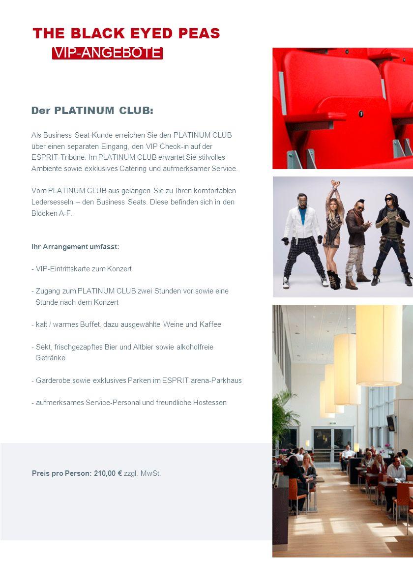 Als Business Seat-Kunde erreichen Sie den PLATINUM CLUB über einen separaten Eingang, den VIP Check-in auf der ESPRIT-Tribüne.