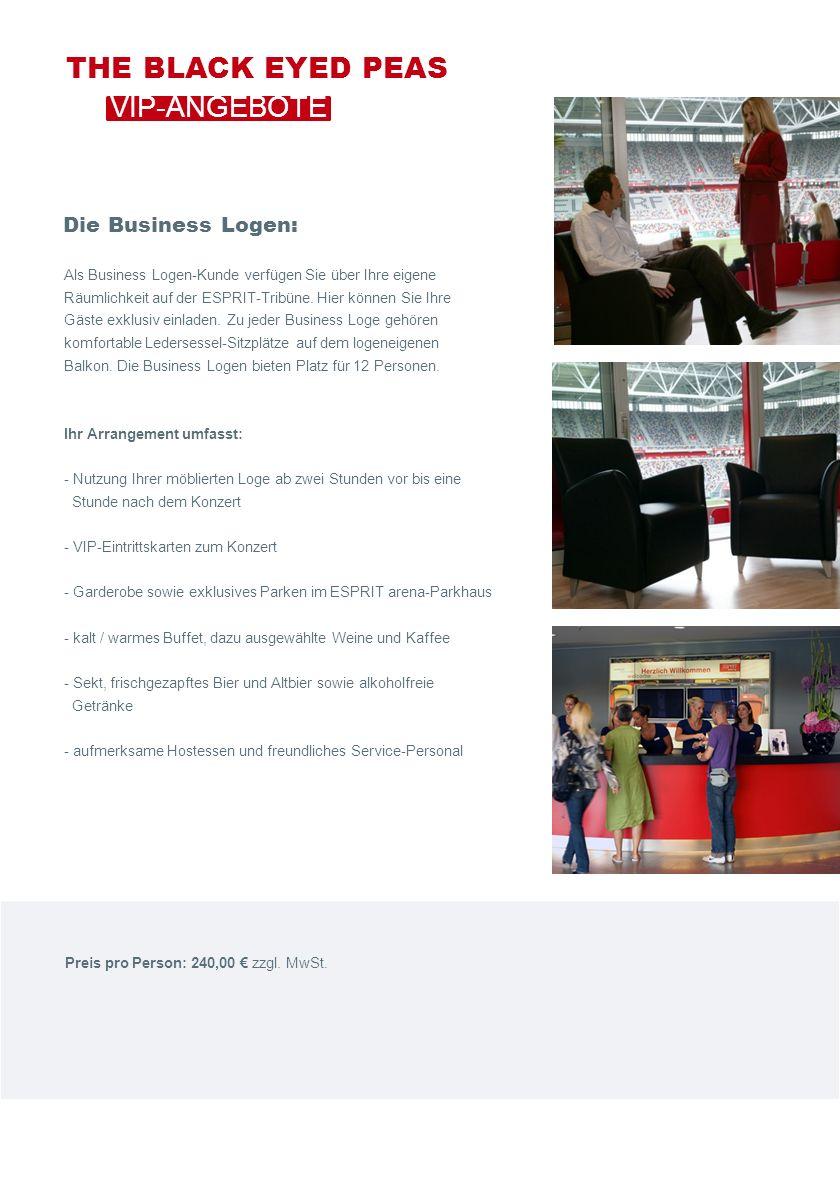 Als Business Logen-Kunde verfügen Sie über Ihre eigene Räumlichkeit auf der ESPRIT-Tribüne.