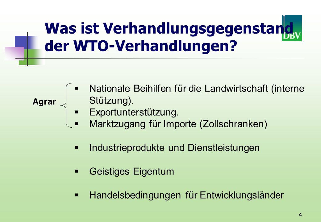 4 Was ist Verhandlungsgegenstand der WTO-Verhandlungen.