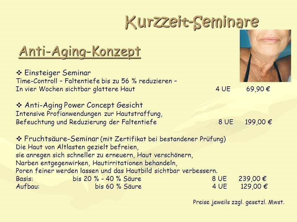 Kurzzeit-Seminare Anti-Aging-Konzept Einsteiger Seminar Einsteiger Seminar Time-Controll – Faltentiefe bis zu 56 % reduzieren – In vier Wochen sichtba