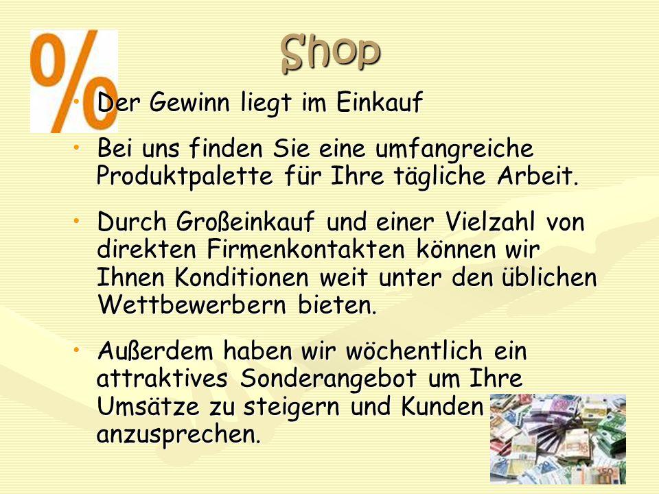 Shop Der Gewinn liegt im EinkaufDer Gewinn liegt im Einkauf Bei uns finden Sie eine umfangreiche Produktpalette für Ihre tägliche Arbeit.Bei uns finde