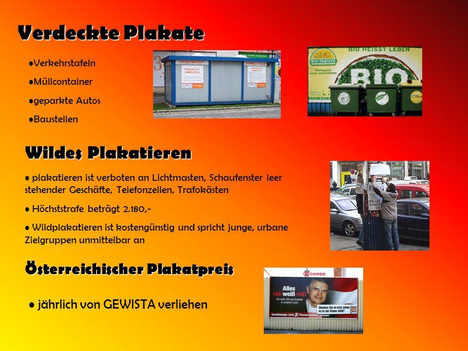 Verdeckte Plakate Verkehrstafeln Müllcontainer geparkte Autos Baustellen Wildes Plakatieren plakatieren ist verboten an Lichtmasten, Schaufenster leer