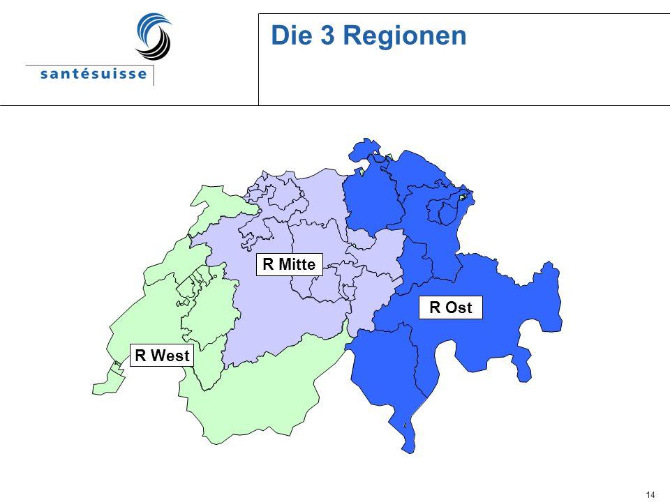 14 Die 3 Regionen R Mitte R West R Ost