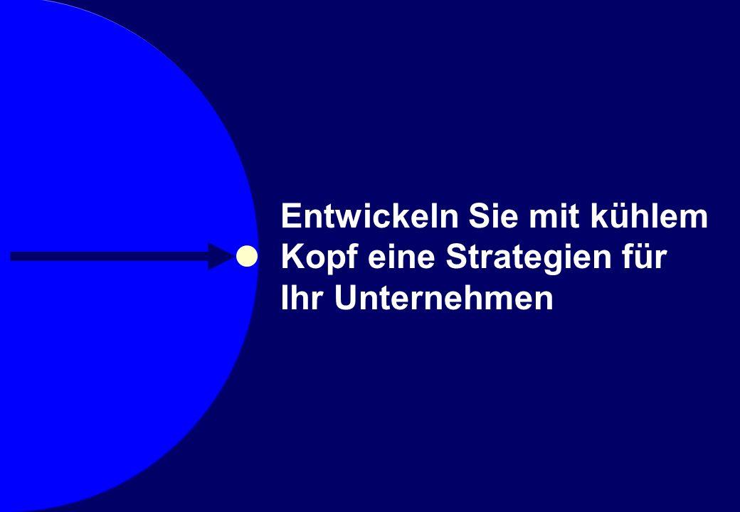 © Prof. Dr. Sebastian Kummer 2007 Entwickeln Sie mit kühlem Kopf eine Strategien für Ihr Unternehmen