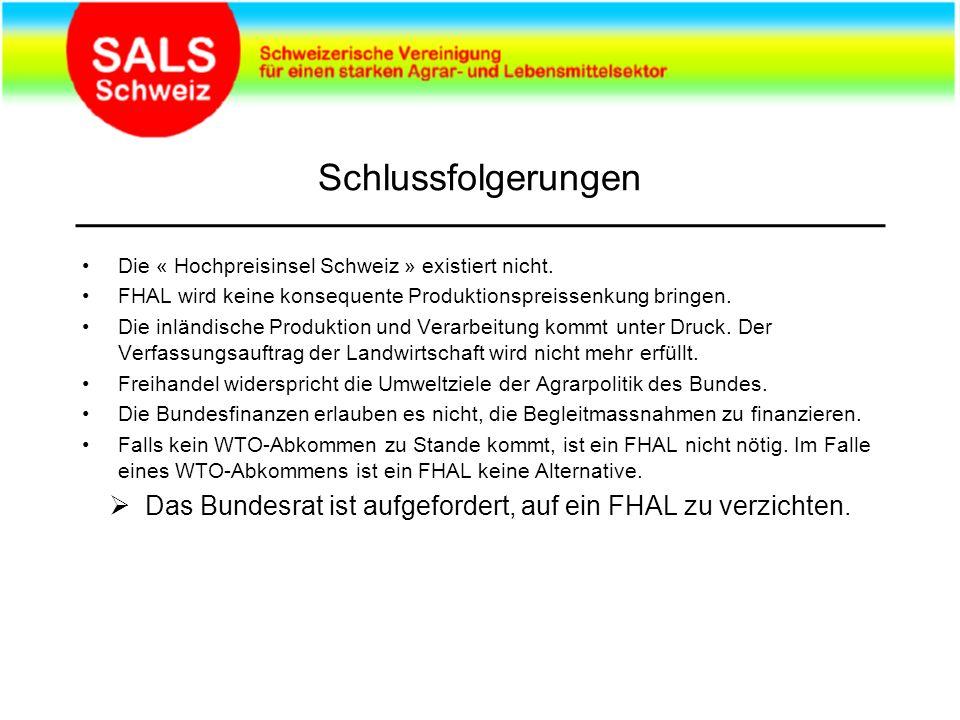 Schlussfolgerungen Die « Hochpreisinsel Schweiz » existiert nicht.