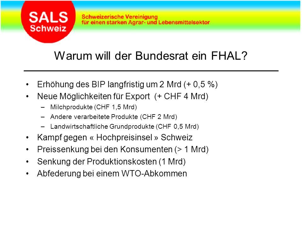 Warum will der Bundesrat ein FHAL.