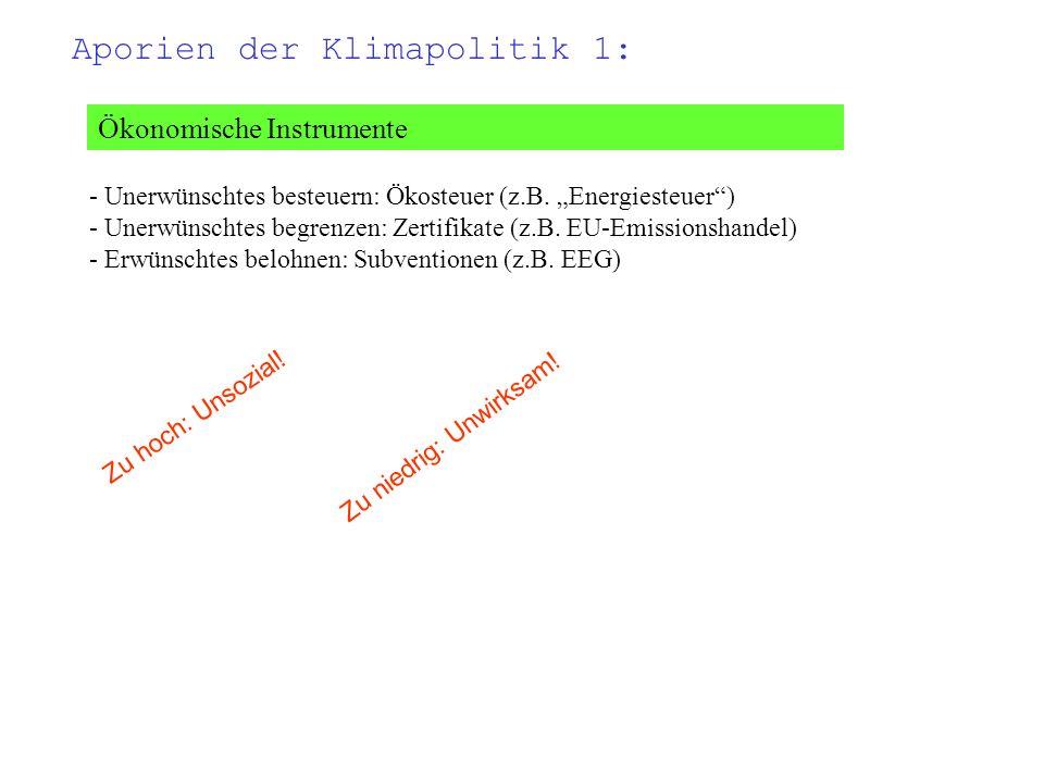 Ordnungsrecht - Unerwünschtes verbieten: z.B.