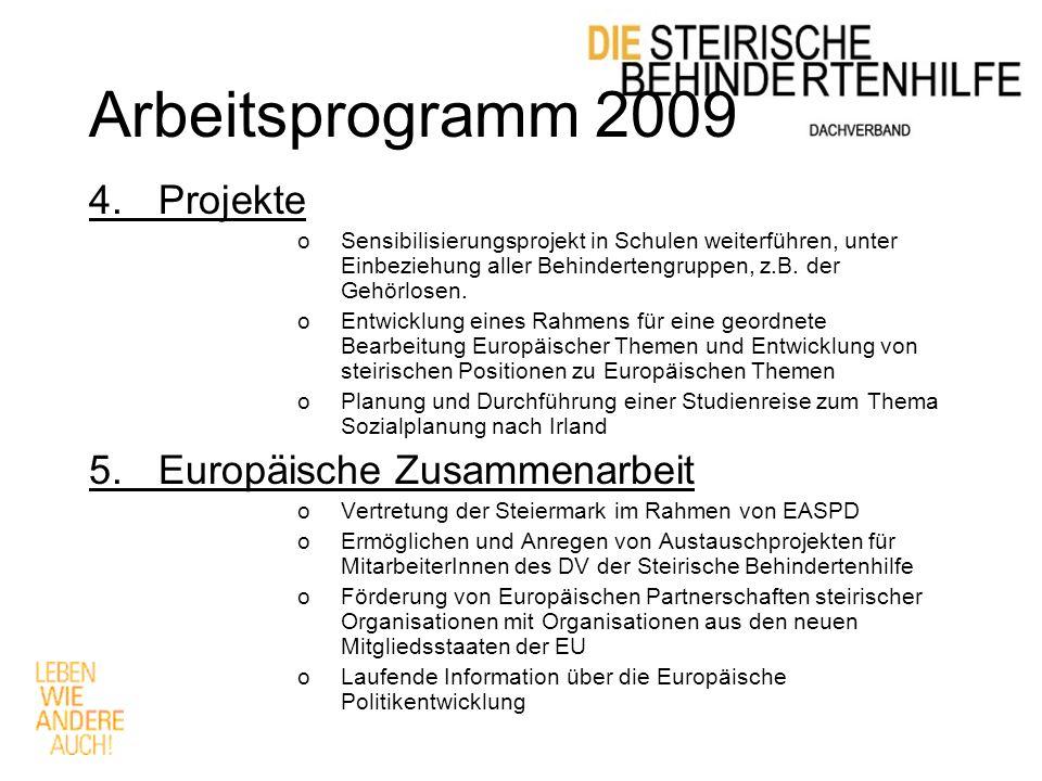 Arbeitsprogramm 2009 4.