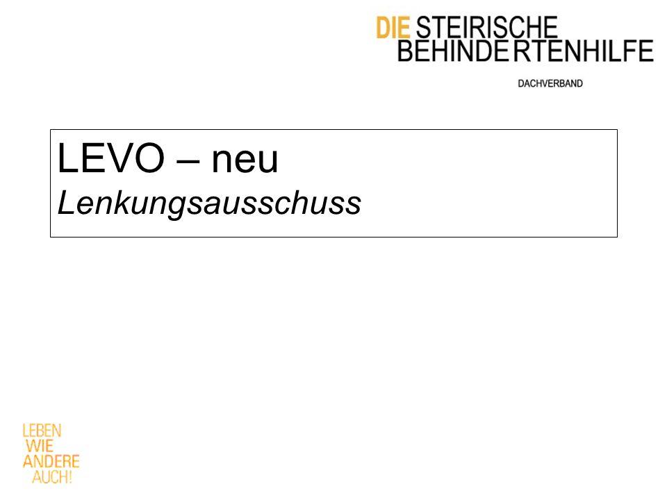 LEVO – neu Lenkungsausschuss