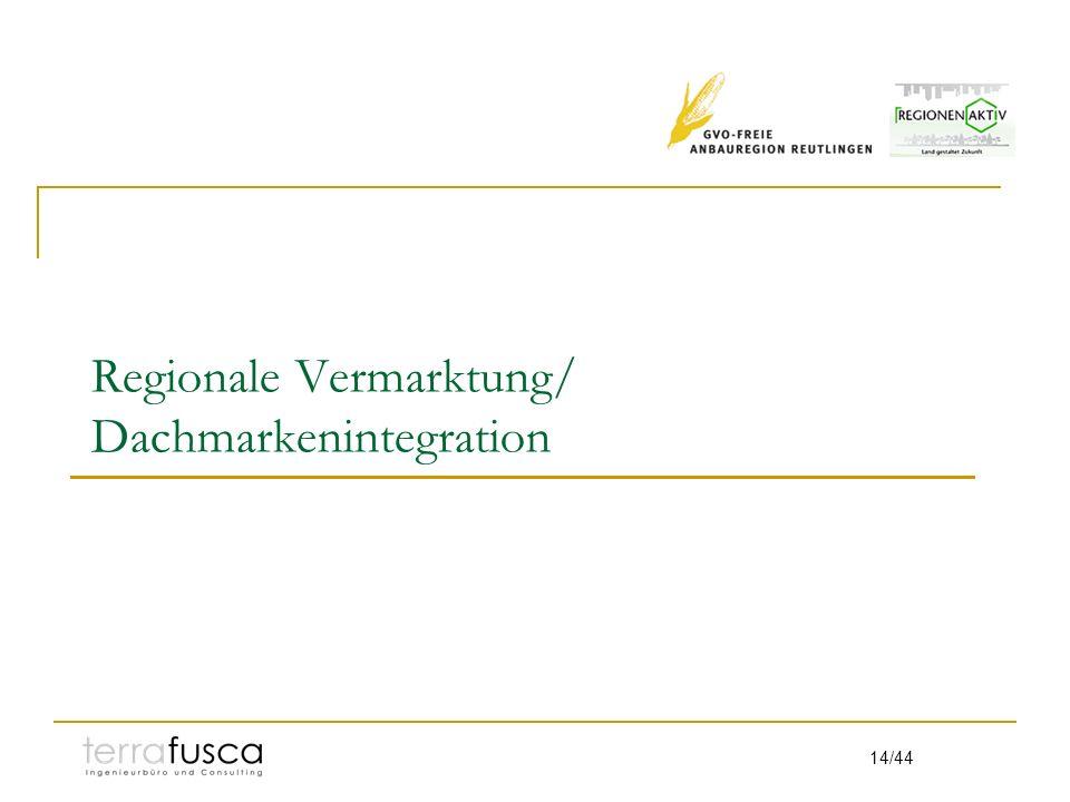 14/44 Regionale Vermarktung/ Dachmarkenintegration