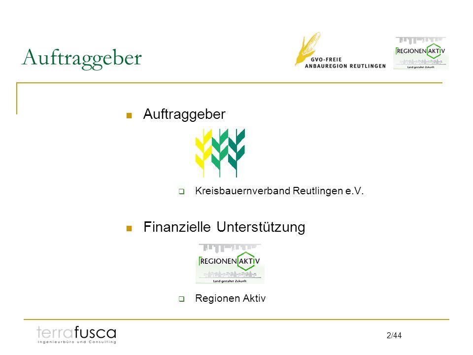 23/44 Fleisch: Württemberger Lamm Erzeugergemeinschaft seit Gründung bestrebt ihre Fütterung auf regionale Produkte zu beschränken.