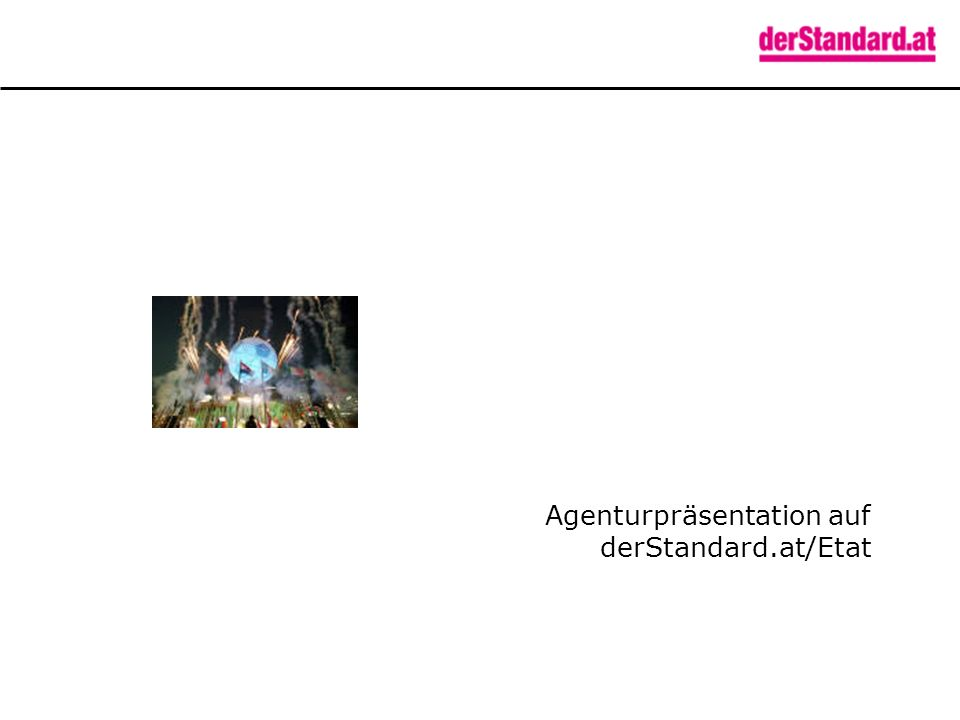 Agenturpräsentation auf derStandard.at/Etat