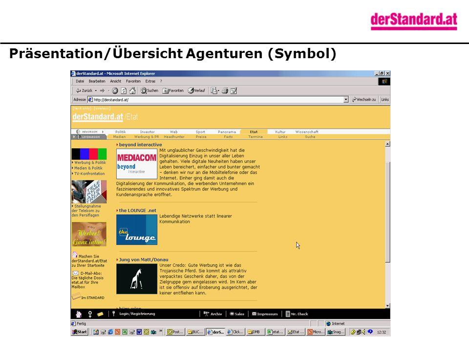Präsentation/Übersicht Agenturen (Symbol)