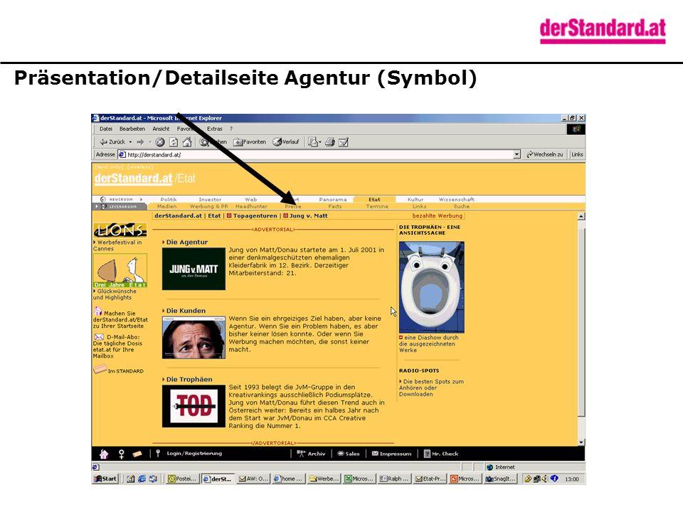 Präsentation/Detailseite Agentur (Symbol)