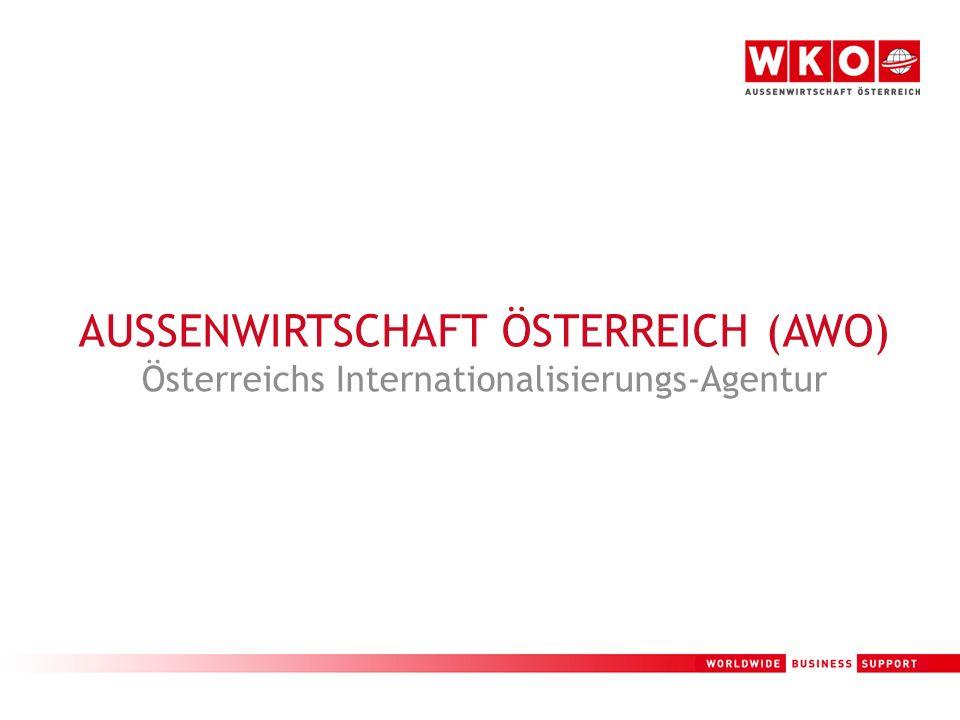 1 AUSSENWIRTSCHAFT ÖSTERREICH (AWO) Österreichs Internationalisierungs-Agentur
