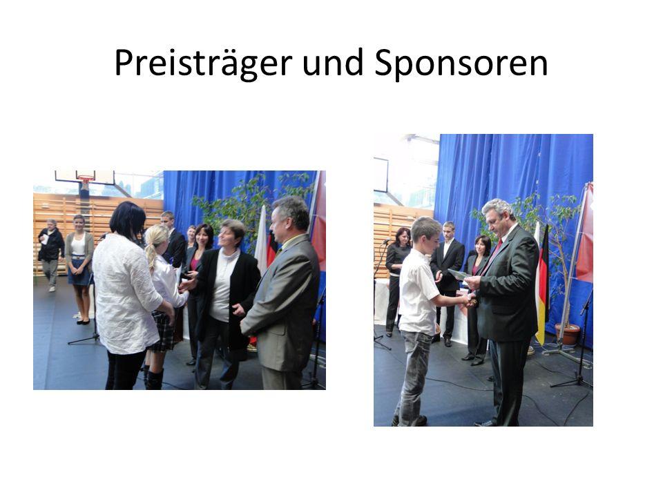 Preisträger und Sponsoren