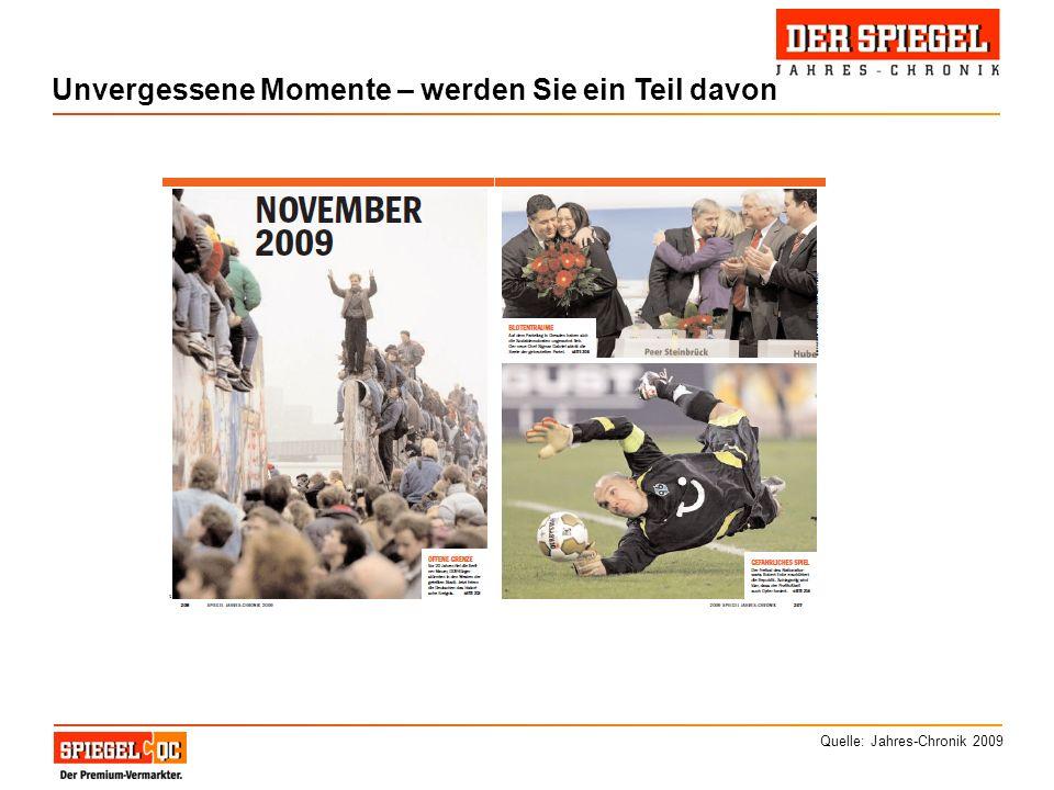 Unvergessene Momente – werden Sie ein Teil davon Quelle: Jahres-Chronik 2009