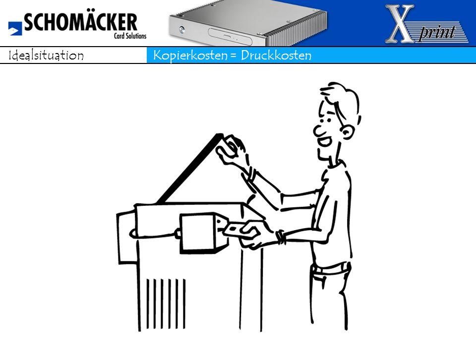 Die Lösung X-print und dezentrale Drucker Jeder Nutzer oder Mitarbeiter kann jederzeit an jedem Drucker, auch digitale Kopierer sicher seinen eigenen Druckjob abholen und diesen verursachergerecht bezahlen.