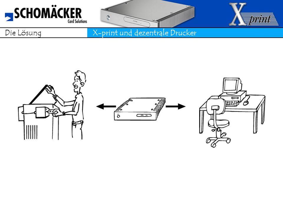 Die Lösung X-print und dezentrale Drucker