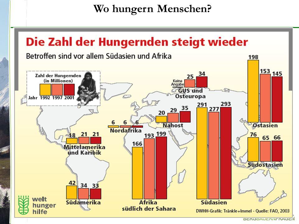 Wo hungern Menschen?