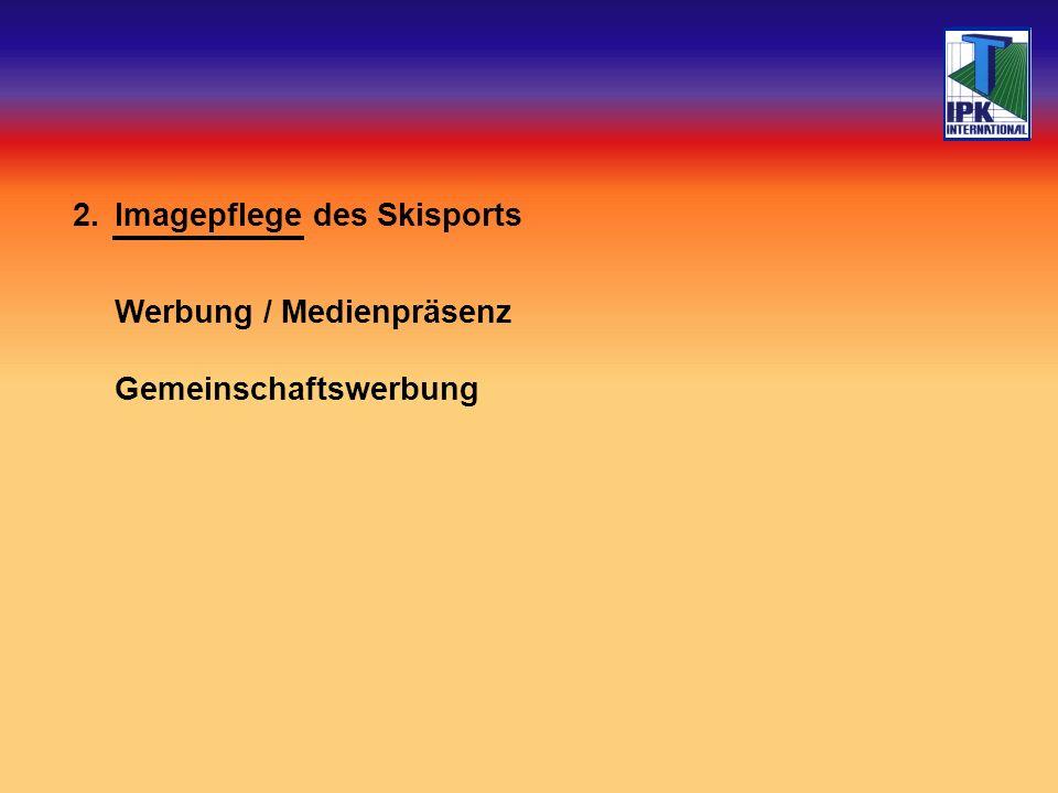 2.Imagepflege des Skisports Werbung / Medienpräsenz Gemeinschaftswerbung