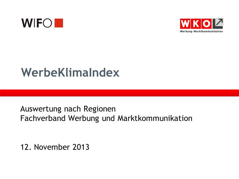 WerbeKlimaIndex Auswertung nach Regionen Fachverband Werbung und Marktkommunikation 12.