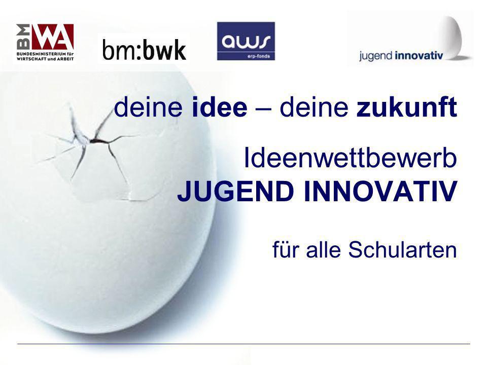 deine idee – deine zukunft Ideenwettbewerb JUGEND INNOVATIV für alle Schularten