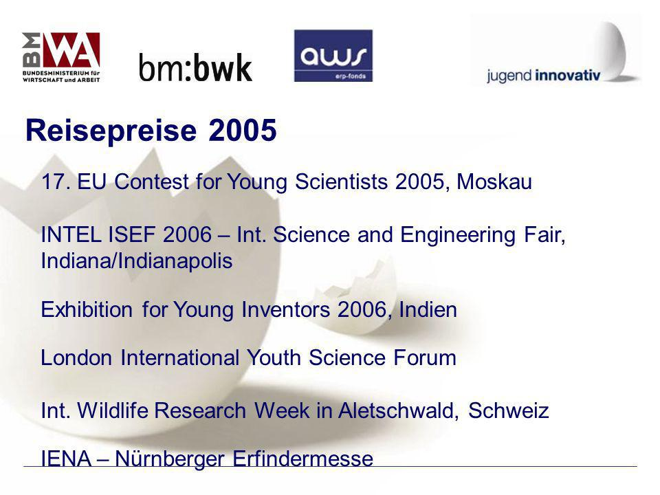 17. EU Contest for Young Scientists 2005, Moskau INTEL ISEF 2006 – Int.