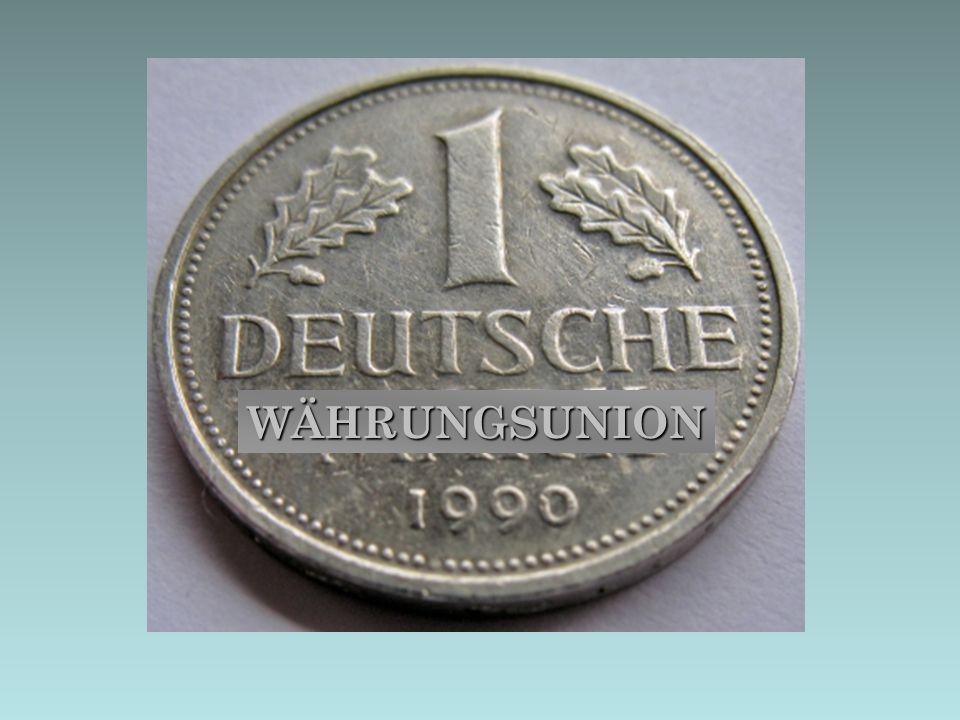 Deutschland Anfang des Jahres 1990: Die wirtschaftliche Lage ist angespannt.