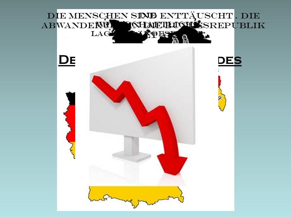 Gründe für das Scheitern Umsetzung der Ideen aufgrund Zeitmangel nicht möglich Mangelnde Konkurrenzfähigkeit mit BRD Massenflucht Starker Zuwachs von neuen demokratischen Parteien Auflösung der SED