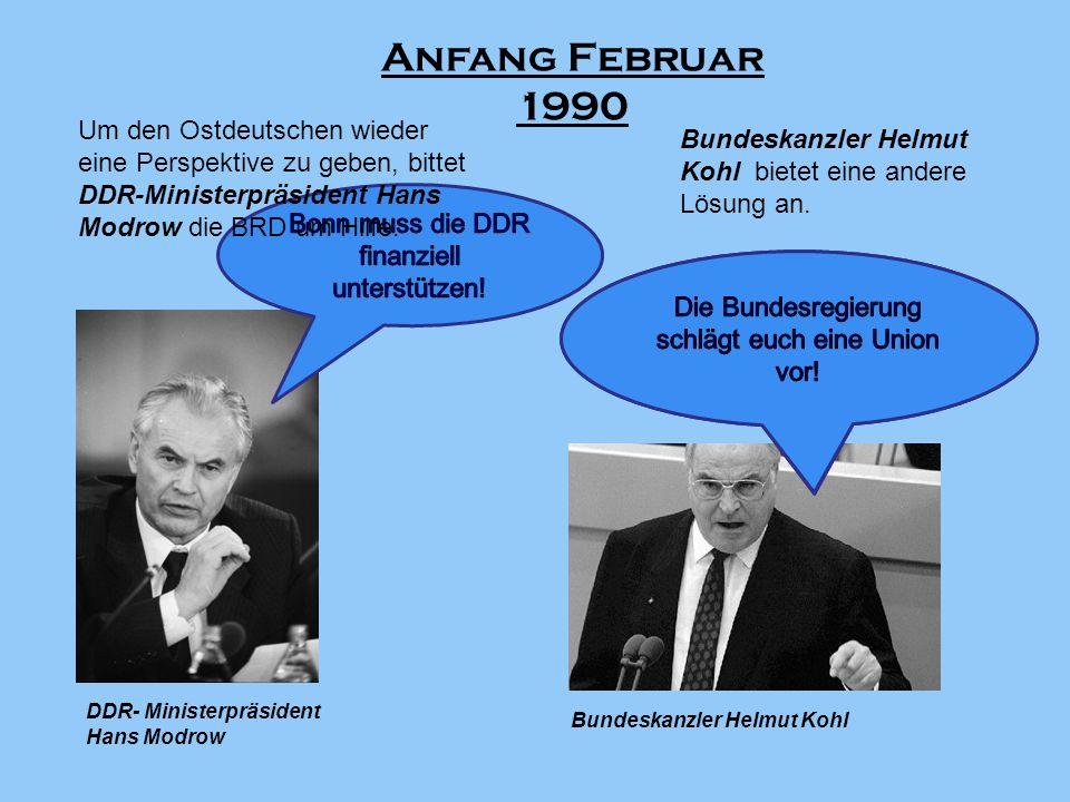 Eine gemeinsame Kommission zur Vorbereitung der Währungsunion und Wirtschaftsreform wird bereits am 14.