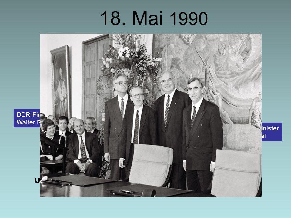 DIE STERNSTUNDE DER MARK Die Bürger der DDR zeigten sich voller Begeisterung für die D-Mark West.