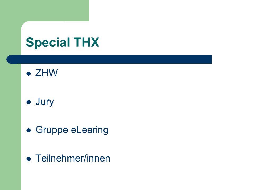 Special THX ZHW Jury Gruppe eLearing Teilnehmer/innen