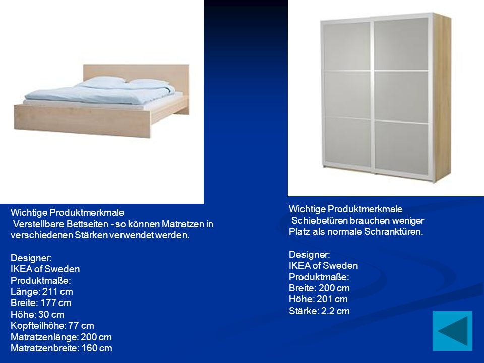 Wichtige Produktmerkmale Verstellbare Bettseiten - so können Matratzen in verschiedenen Stärken verwendet werden. Designer: IKEA of Sweden Produktmaße