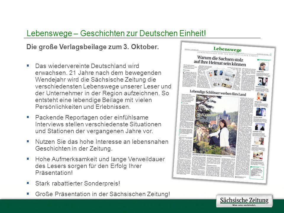 Die große Verlagsbeilage zum 3. Oktober. Das wiedervereinte Deutschland wird erwachsen.