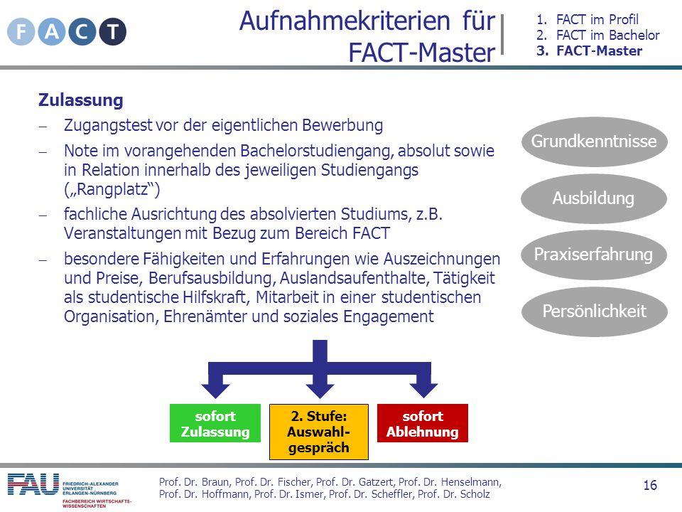 Prof. Dr. Braun, Prof. Dr. Fischer, Prof. Dr. Gatzert, Prof. Dr. Henselmann, Prof. Dr. Hoffmann, Prof. Dr. Ismer, Prof. Dr. Scheffler, Prof. Dr. Schol