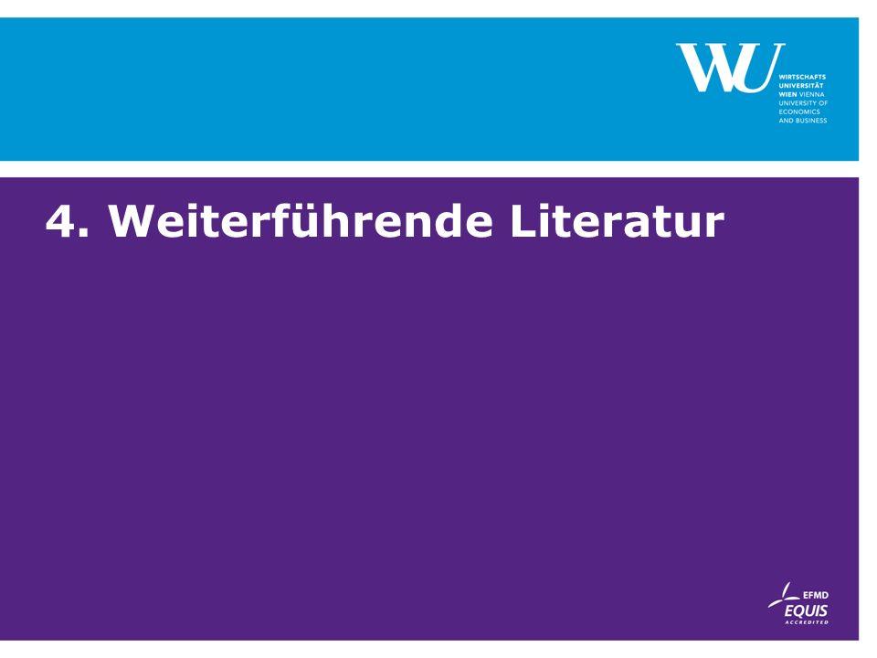 4. Weiterführende Literatur