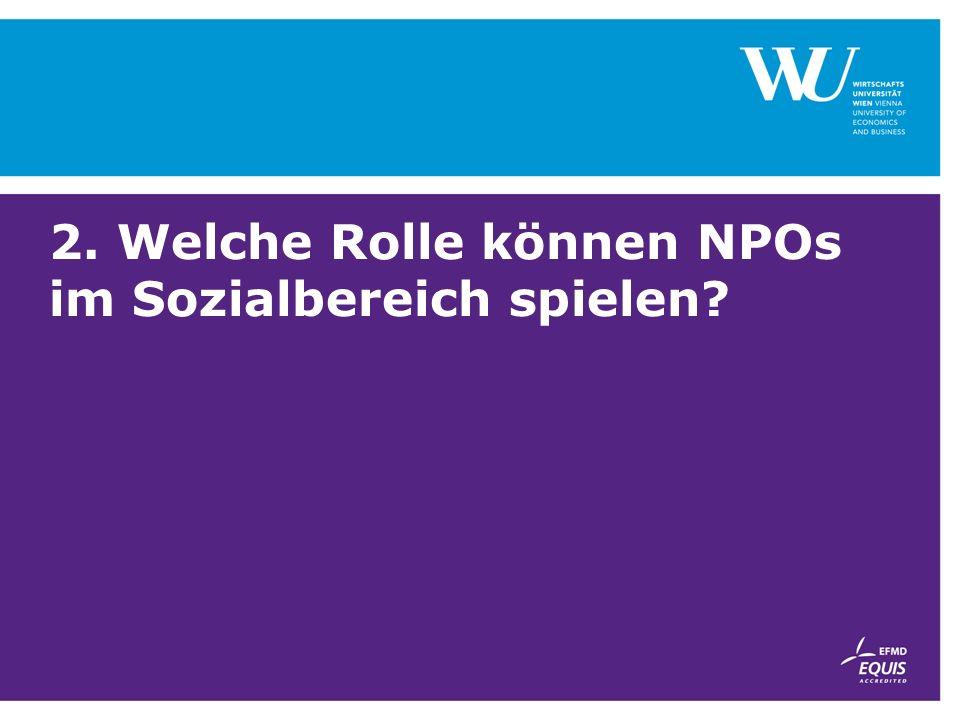 2. Welche Rolle können NPOs im Sozialbereich spielen?