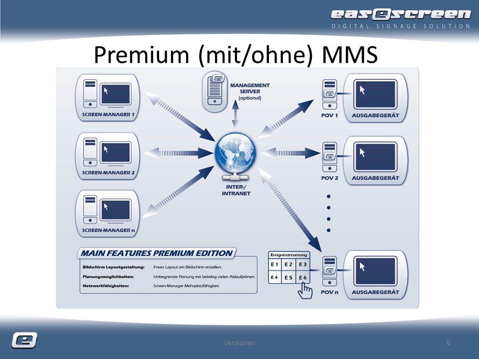 Premium (mit/ohne) MMS Versionen6
