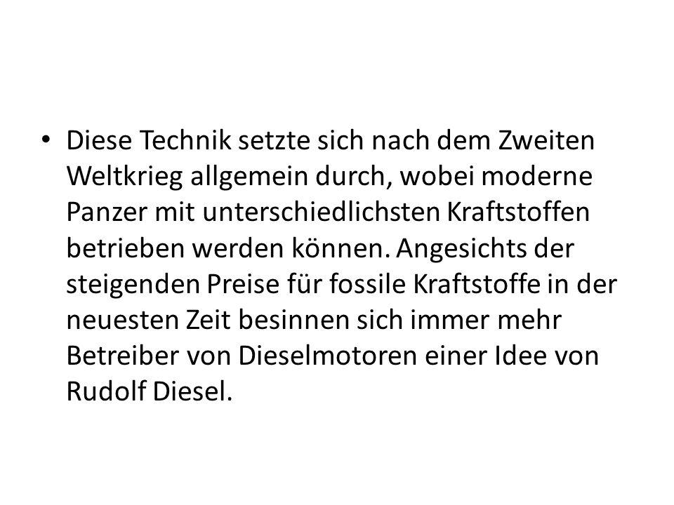 Bei der Konstruktion des ersten selbstzündenden Verbrennungsmotors experimentierte Rudolf Diesel erfolglos mit Benzin.