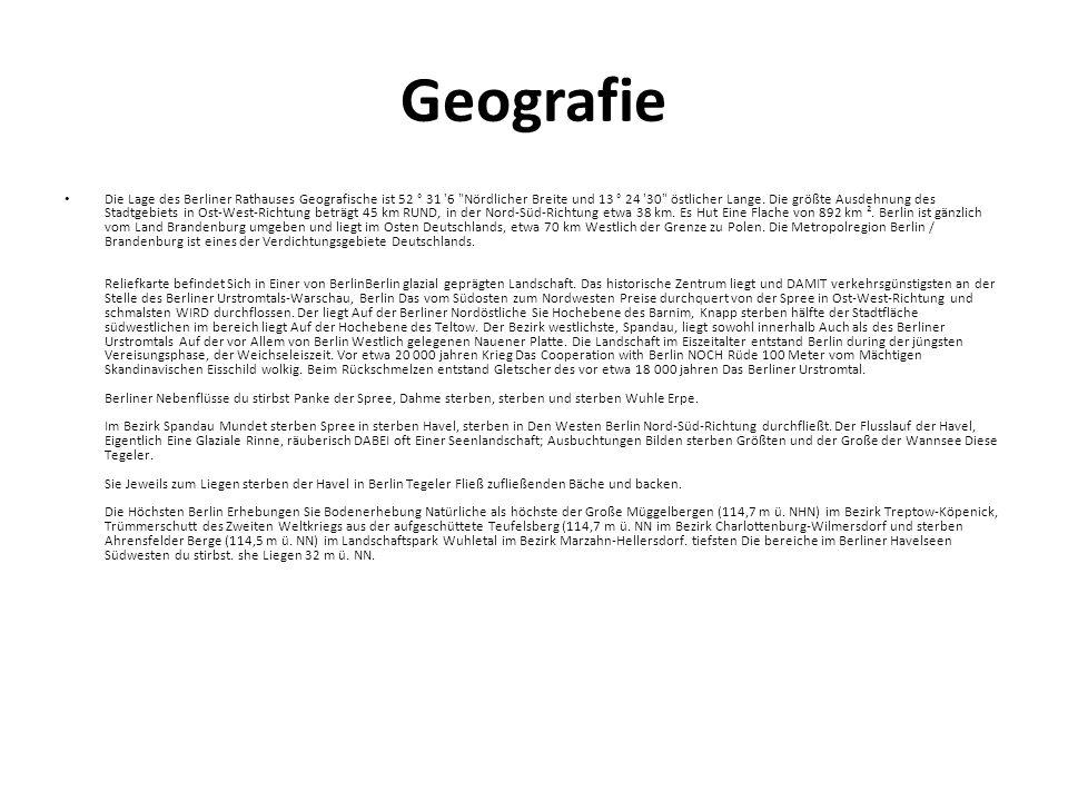 Geografie Die Lage des Berliner Rathauses Geografische ist 52 ° 31 '6